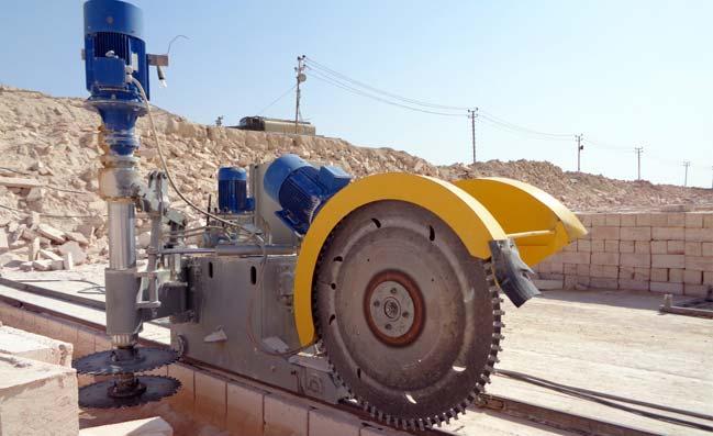 machine quarrying stones